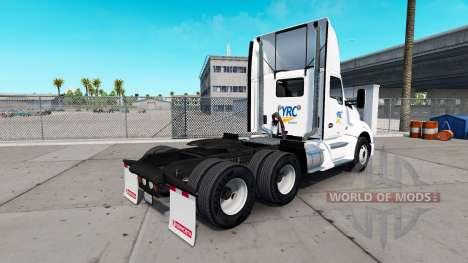 Скин YRC Freight на тягач Kenworth для American Truck Simulator