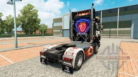 Скин Scania Black на тягач Scania для Euro Truck Simulator 2
