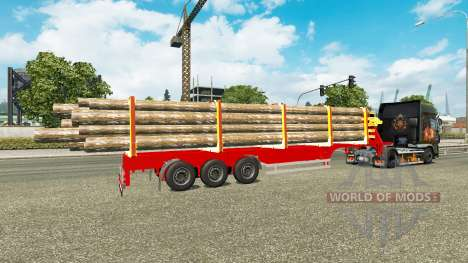 Полуприцеп лесовоз для Euro Truck Simulator 2