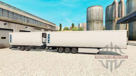 Полуприцепы Krone Gigaliner [Pema] для Euro Truck Simulator 2