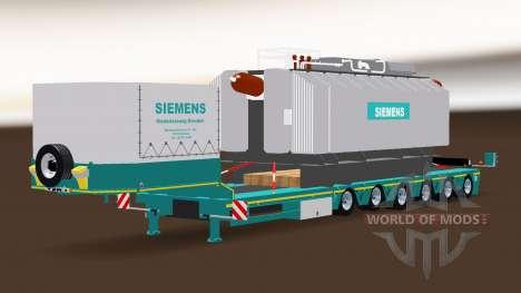 Полуприцеп Siemens Trafo для American Truck Simulator