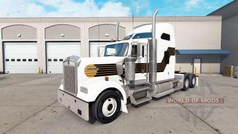 Скин Black and Gold на тягач Kenworth W900 для American Truck Simulator