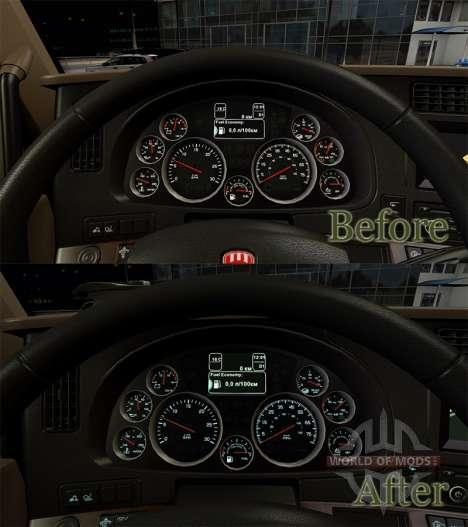 Подсветка приборов цветом морской воды у KenT680 для American Truck Simulator