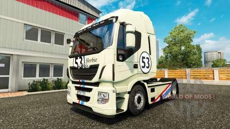 Скин Herbie на тягач Iveco для Euro Truck Simulator 2