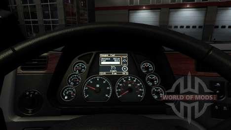 Подсветка приборов цветом морской воды у Pet579 для American Truck Simulator