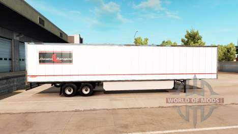 Скин Stevens Transport на полуприцеп для American Truck Simulator