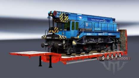 Полуприцепы с железнодорными составами v1.3 для Euro Truck Simulator 2
