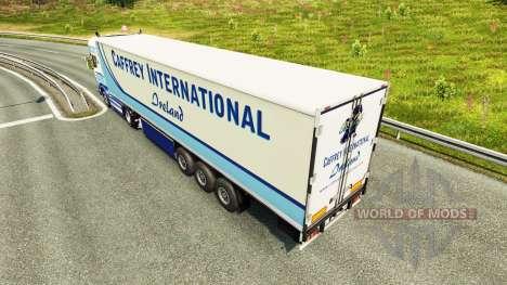 Скин Caffrey International на тягач Scania для Euro Truck Simulator 2