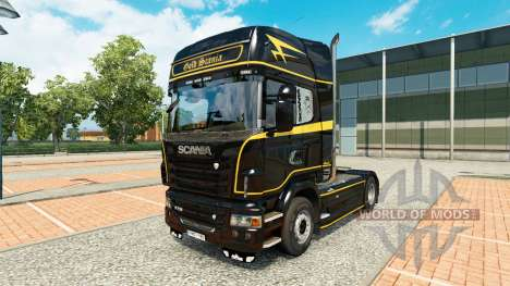 Скин Golden Lines на тягач Scania для Euro Truck Simulator 2