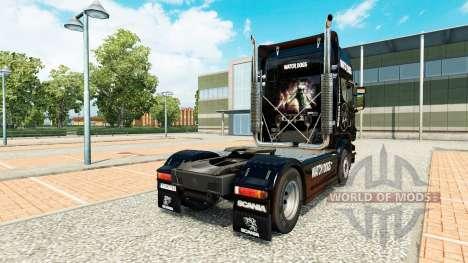 Скин Watch Dogs на тягач Scania для Euro Truck Simulator 2