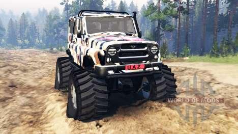 УАЗ-315195 Хантер v2.0 для Spin Tires
