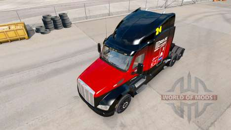 Скин Hendrick v2.0 на тягач Peterbilt для American Truck Simulator