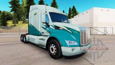 Скин Long Haul на тягач Peterbilt для American Truck Simulator