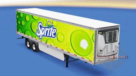 Скин Sprite на рефрижераторный полуприцеп для American Truck Simulator