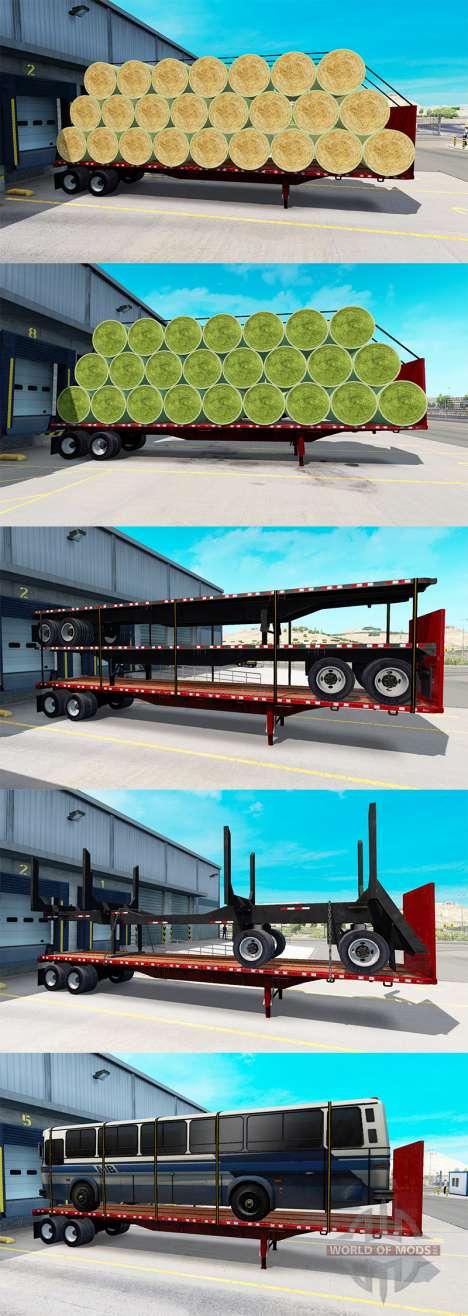 Сборник новых полуприцепов с грузами для American Truck Simulator