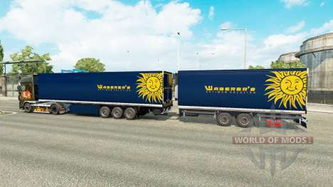 Полуприцепы Krone Gigaliner [Waberers] для Euro Truck Simulator 2