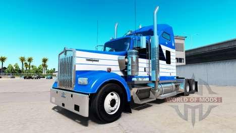 Скин Blanch Transport на тягач Kenworth W900 для American Truck Simulator