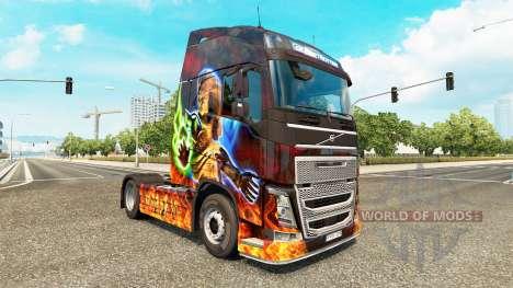 Скин Diablo II на тягач Volvo для Euro Truck Simulator 2