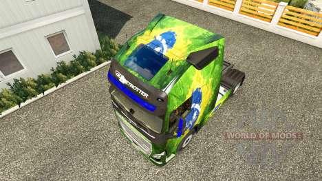 Скин Brasil на тягач Volvo для Euro Truck Simulator 2