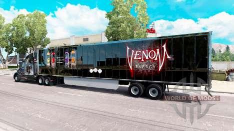 Скин Venom на полуприцеп для American Truck Simulator