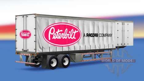 Шторный полуприцеп Peterbilt для American Truck Simulator