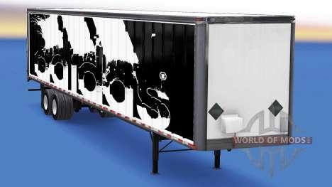 Цельнометаллический полуприцеп Adidas для American Truck Simulator