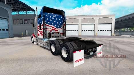 Скин USA на тягач Kenworth W900 для American Truck Simulator