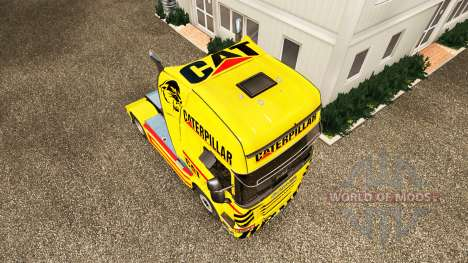 Скин CAT на тягач Scania для Euro Truck Simulator 2