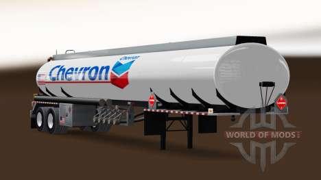 Скин Chevron на топливный полуприцеп для American Truck Simulator