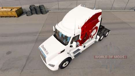 Скин Dragon Age на тягач Peterbilt для American Truck Simulator
