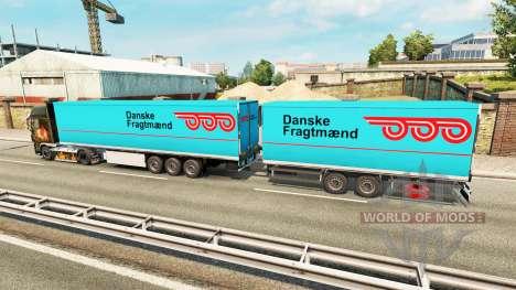 Полуприцепы Krone Gigaliner [Danske Fragtmaend] для Euro Truck Simulator 2