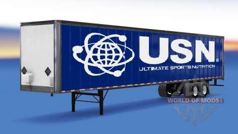 Цельнометаллический полуприцеп USN для American Truck Simulator