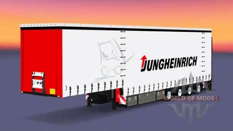 Четырёхосный шторный полуприцеп Krone для Euro Truck Simulator 2