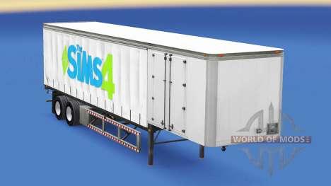 Скин The Sims 4 на шторный полуприцеп для American Truck Simulator