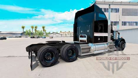 Скин Black and White на тягач Kenworth W900 для American Truck Simulator