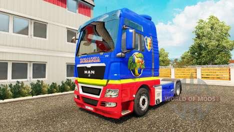 Скин Romanian на тягач MAN для Euro Truck Simulator 2