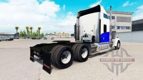 Скин Blue Wave на тягач Kenworth W900 для American Truck Simulator