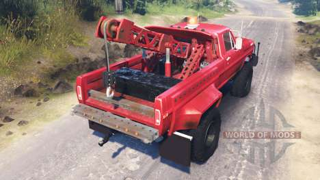 Ford F-200 1970 [Tow Truck] для Spin Tires
