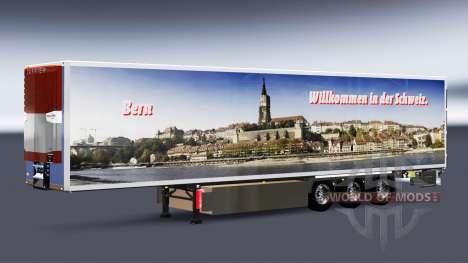 Скины на рефрижераторный полуприцеп для Euro Truck Simulator 2