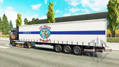 Скин Los Pollos Hermanos на полуприцеп для Euro Truck Simulator 2