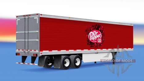 Скин Dr Pepper на полуприцеп для American Truck Simulator