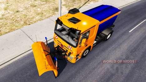Снегоуборочный автомобиль Mercedes-Benz Actros для American Truck Simulator