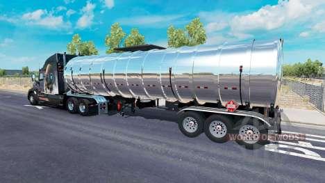 Хромированный топливный полуприцеп для American Truck Simulator