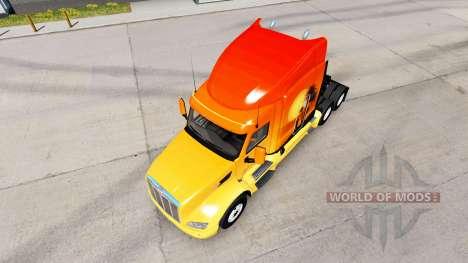Скин Sun на тягач Peterbilt для American Truck Simulator