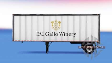 Скин E&J Gallo Winery на полуприцеп для American Truck Simulator