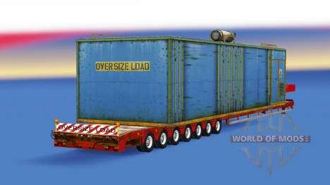 Низкорамный трал с различными грузами для American Truck Simulator