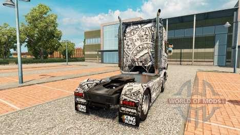 Скин Batik Indonesia на тягач Scania для Euro Truck Simulator 2