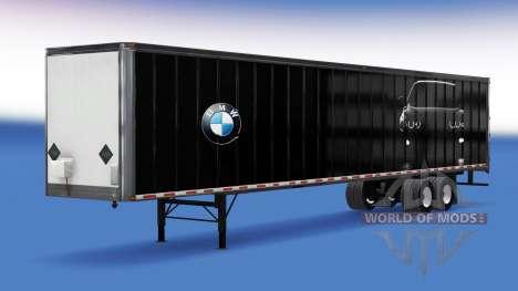 Цельнометаллический полуприцеп BMW для American Truck Simulator