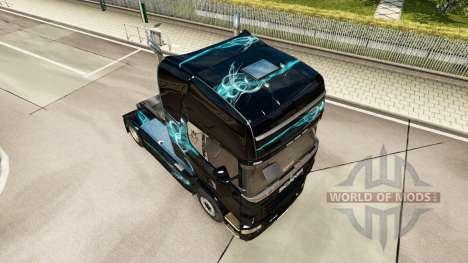 Скин Turquoise Smoke на тягач Scania для Euro Truck Simulator 2