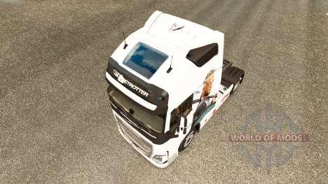 Скин Vikings на тягач Volvo для Euro Truck Simulator 2